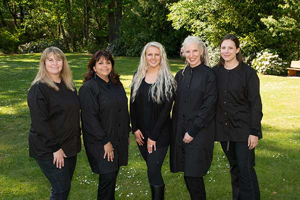 The Harbor View Dentistry team in their Gig Harbor Dental Office
